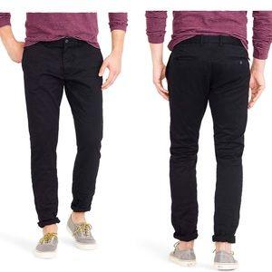 J crew 484 slim stretch chino black pants